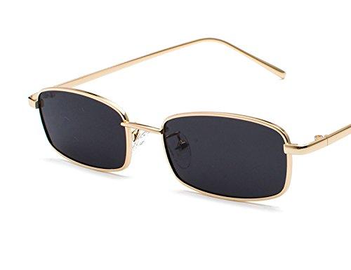 Bmeigo Occhiali da Sole Donna Vintage Retro Rettangolari in Metallo Occhiali Unisex moda Occhiali UV400 Ultraleggero