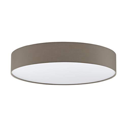 EGLO LED Deckenleuchte Romao 3, 1 flammige Deckenlampe aus Stahl, Kunststoff, Textil in weiß, mit Fernbedienung, Farbtemperaturwechsel (warm, neutral, kalt), Nachtlicht, dimmbar, Ø 57 cm