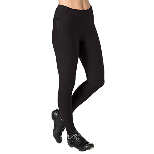 Terry Coolweather Cycling Padded Tights for Women - Regular - 29 inch Inseam Pants – Black – Medium