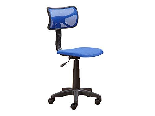 Mirjan24 Drehstuhl Tobi, Kinderschreibtischstuhl Drehsessel für Kinder, Regulierbare Sitzhöhe Jugend- und Kinderstuhl Schreibtischstuhl (Blau)
