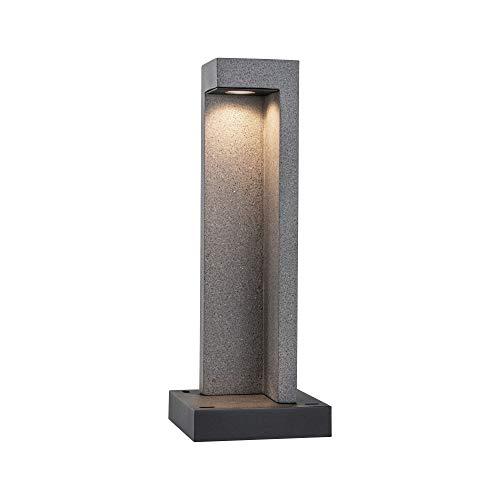 Paulmann 94501 LED Außenleuchte Poller Concrea IP44 incl. 1x6,8 Watt Pollerleuchte Sandstein Gartenbeleuchtung Beton 3000 K