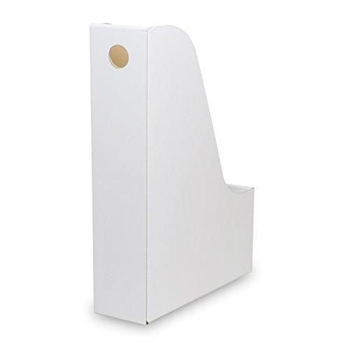 カラーボックス用ファイルボックス(No.2)【横置き用】【白】 18枚セット (引き出し 収納ボックス 整理ボックス 書類 ダンボール 段ボール)
