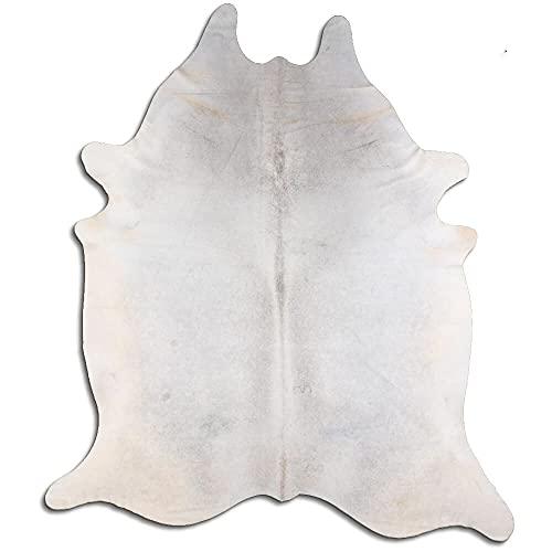 By Max Alfombra de piel de vaca 3262 XL, color: gris, tamaño: 250 x 200 cm, piel de calidad