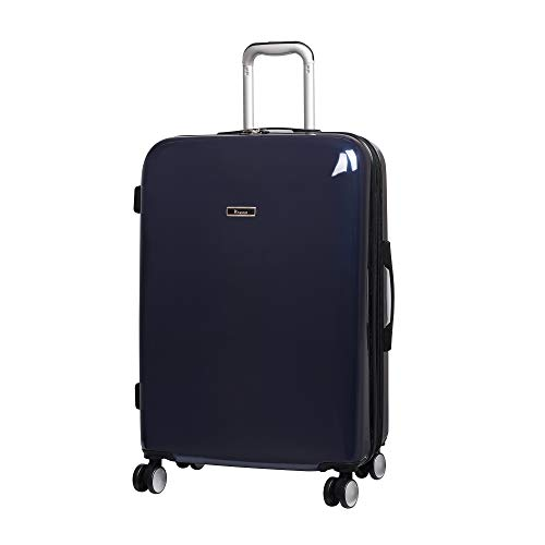 IT Luggage Sheen 8 Wheel Hard Shell Single Expander Suitcase Maleta 70 Centimeters 107 Azul (British Navy)