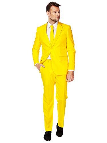 OppoSuits Modisch Party Einfarbige Anzüge für Herren - Mit Jackett, Hose und Krawatte