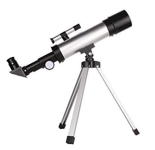 Suministros para equipos de campamento Telescopios para niños para principiantes en astronomía Versión mejorada Aumento de un solo tubo Abertura clara: 50 mm (2.4 ″) Longitud focal: 360 mm.f / 7