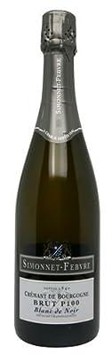 Simonnet Febvre Cremant de Bourgogne Brut P100 Blanc de Noirs NV 75cl