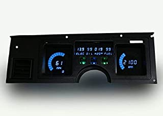Intellitronix C4 Corvette 1984-1989 Digital Dash Gauge Replacement Panel - Direct-Fit Solution - Long Lasting Bright Blue LEDs - USA Made
