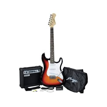 Johnny Brook Electric Guitar Kit With 15 W Amplifier And Accessories Sunburst
