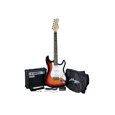 Johnny Brook Electric Guitar Kit With 15 W Amplifier And Accessories...