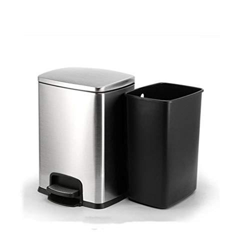25L, 40 litres, 60 litres, 100 litres Poubelle en plastique pour poubelle cr/éative de grande capacit/é poubelle ext/érieure//centre commercial//cour//restaurant//avec couvercle Grey-100L