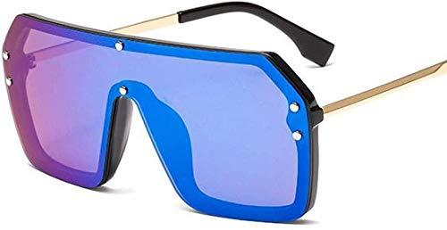 ZYIZEE Gafas de Sol Gafas de Sol cuadradas Unisex de Moda para Mujer Gafas de Sol de Espejo Plateadas de Gran tamaño para Mujer-4
