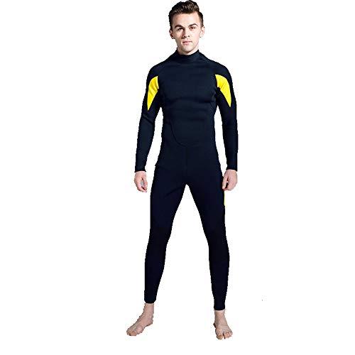 NgMik Hombre de Helado Los Hombres de Siameses Conservador Flaco Manga Larga Traje de Buceo adecuadas for el Surf Ropa de baño de los Hombres Snorkeling (Color : Yellow, Size : SG)