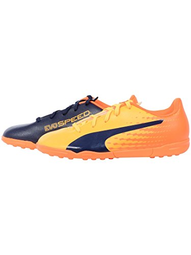 PUMA Evospeed 17.5 TT Jr, Unisex-Kinder Fußballschuhe, Gelb (Ultra Yellow-Peacoat-orange Clown Fish 03), 37 EU (4 Kinder UK)