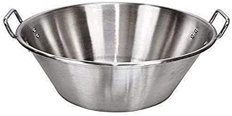 """popular Cazo Grande Para Carnitas Extra Large 22"""" inch 8"""" online Height high quality Stainless Steel Heavy Duty Acero Inoxidable Wok comal Fry outlet online sale"""