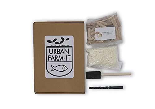 Urban Farm-It - mushoom Kweekset - Shiitake Champignons - Lentinula edodes - Grow je eigen Paddestoelen in boomstammen