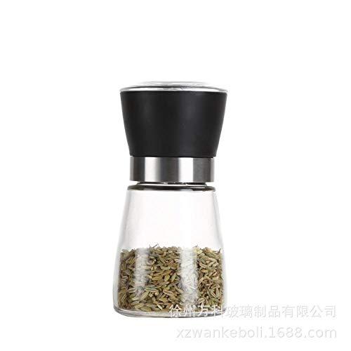 Glas keuken pepermolen peper stalen fles huis met de hand slijpen peper pikant sesam,gemengd