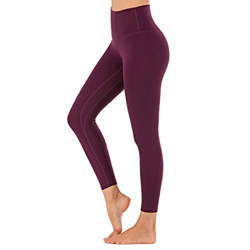 WANGT Leggings De Yoga para Mujeres Mallas Pantalones Deportivos con Bolsillos,Control De Cintura Alta Y Barriga,Elásticos Y Transpirables para Running Yoga Fitness Gym,L