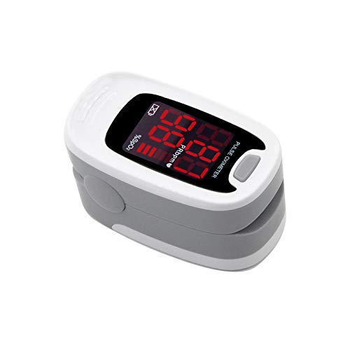 CONTEC MED LED CMS50M Pulse Oximeter, Blood Oxygen Saturation Monitor (Gray)