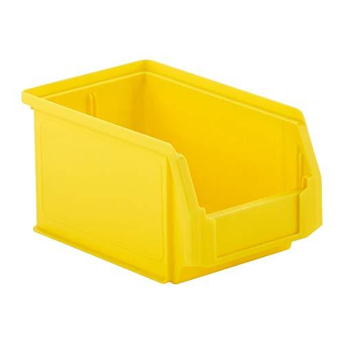 SSI Schäfer Kunststoffbox Sortierbox Stapelbox LF 221, Aufbewahrung, Made in Germany, Polypropylen (PP), L 234 x B 150 x H 122 mm, 2,7 l, Gelb