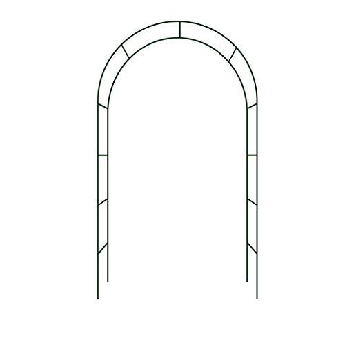 ESTEAR Arco de jardín Metal Hierro Forjado Arco Decorativo Diseño rústico - Ideal para Cultivar Cualquier Tipo de Plantas trepadoras - Verde Scuro