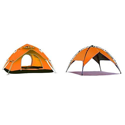 Qifengshop Explorer Plein air 3-4 Personnes Vitesse Automatique Tente Ouverte Camping Pluie écran Solaire Double 2 Personnes Double Camping (Color : BIUE)