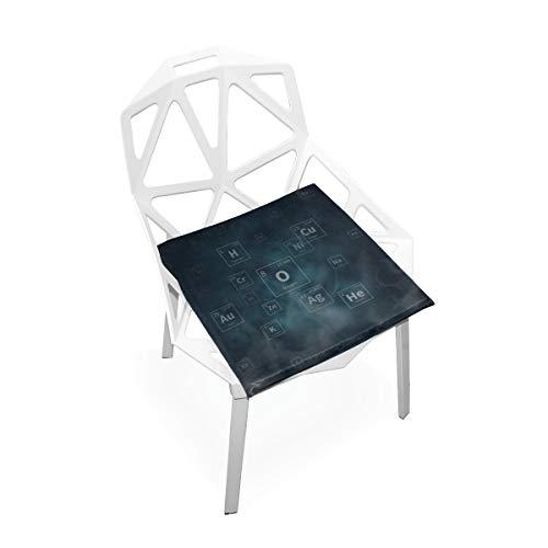Enhusk Periodensystem der Elemente Benutzerdefinierte weiche rutschfeste quadratische Memory Foam Chair Pads Kissen Sitz für Home Kitchen Esszimmer Büro Schreibtisch Möbel Indoor 16 x 16 Zoll