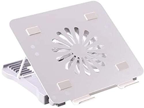 Haohaojia Base Refrigerante para Profesionales Portátil de refrigeración portátil Enfriador para 12-17 Pulgadas Gaming Office Laptop con Ventilador de refrigeración Cuatro Puertos USB Plata