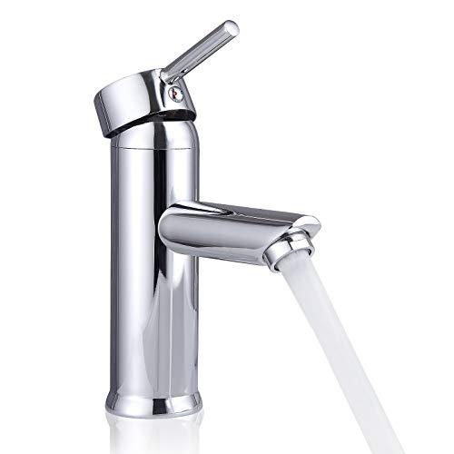 LARS360 Waschtischarmatur Wasserhahn Waschtisch Armatur Spültisch Einhebelmischer Spültischarmatur Wasserkran Mischbatterie für Waschtischmischer Badarmatur Badzimmer WC (Spültisch G)