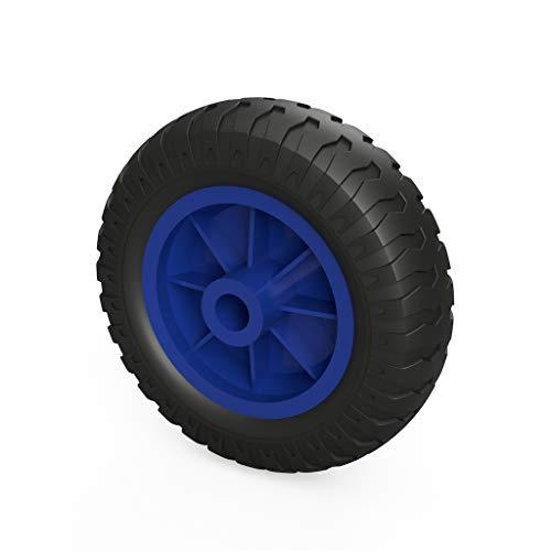 PU-wiel Ø 160 mm glijlager, sliprolle, compressor, steunwiel 1 x PU-wiel (zwart/blauw).
