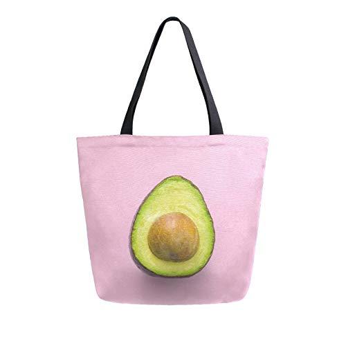 JinDoDo - Bolsa de lona para mujer, ideal para ir de compras, viajes, playa, escuela