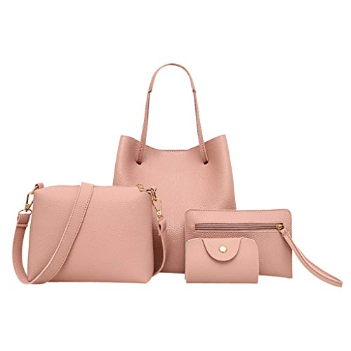 Lowest Price! Ikevan 4Pcs Fashion Women Pattern PU Leather Handbag+Crossbody Shoulder Bag+Messenger ...