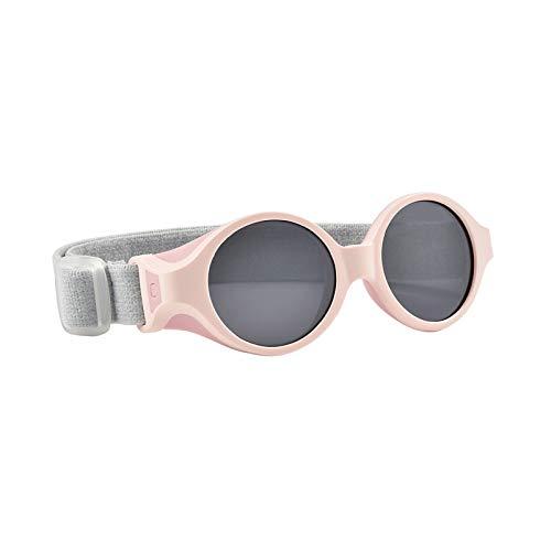 Beaba - Gafas de sol para bebé de 0 a 9 meses, protección 100% UV – CAT 4, protección lateral, comodidad óptima, diadema elástica ajustable, color rosa