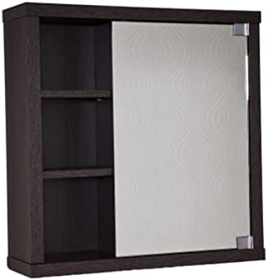 Intradisa 8910 - Armoire de Salle de Bain avec 1 Porte à Miroir latéral wengué