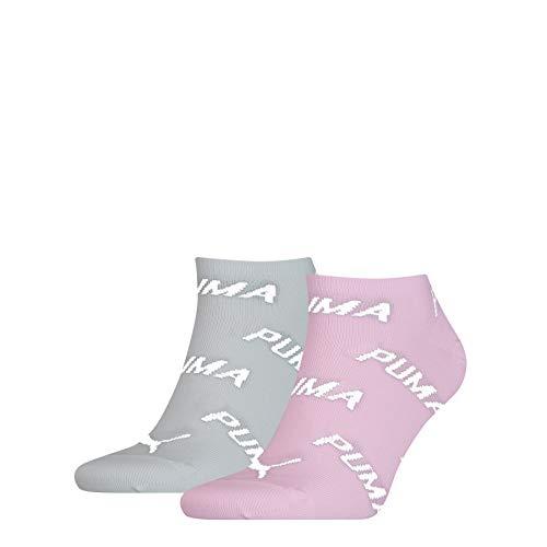 PUMA BWT Sneaker-Trainer Socks (2 Pack) Calcetines, Agua De Rosas, 39-42 Unisex Adulto