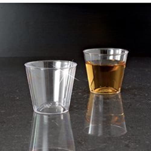 1 OZ. CLEAR ELEGANT PLASTIC SHOT GLASS CUP 50 50 2500CS by YOSHIWARE