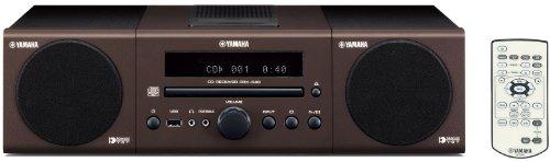 Yamaha MCR 040 Kompaktanlage (MP3-CD-Player, Apple iPod-Dock, USB) braun