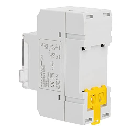 Interruptor temporizador digital semanal con chip de grado industrial de alta precisión Interruptor temporizador programable 30A para lámpara de neón