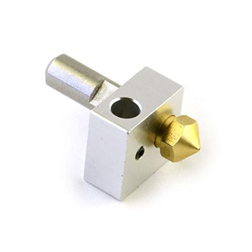 VIKTK 1set*MK10 Extruder Hotend Kit 0.4mm Nozzle Throat Heater Block Fit For FlashForge Wanhao CTC 3D Printer