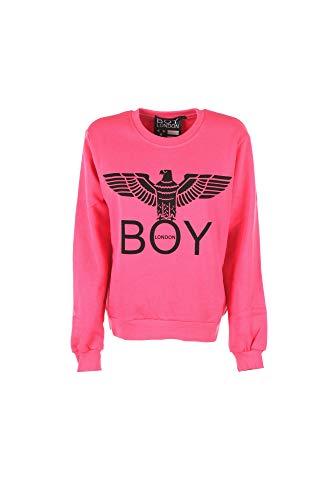 Boy London Felpa Donna BLD1505 Basic Logo Girocollo con Stampa