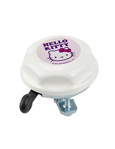 Kinder Fahrrad-Glocke Hello Kitty weiß - Klingel für Kinder ab 2 Jahren