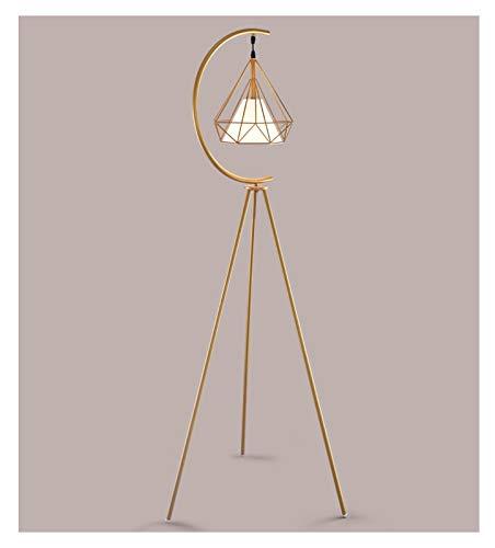 jinyi2016SHOP Lámpara de Pie Interior Nordic Modern Cobre Triángulo Golden LED Lámpara de Suelo Vertical Sofá Lámpara Decorativa Lámpara de Lectura de Noche para Hogar, Salón y Dormitorio