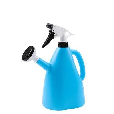 MLOZS YHJ101706 YHJ101706 - Bote de agua para riego de flores y jardín (color: verde), boca larga (color azul cielo)