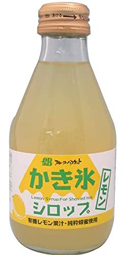 無添加かき氷シロップレモン 180ml×1本 ★ コンパクト ★ ハチミツ入り★有機レモン果汁と純粋蜂蜜を使用した、かき氷シロップです。 砂糖は、北海道産のビートグラニュー糖を使用しています。 着色料、香料、pH調整剤、保存料、酸味料などの添加物は使用して