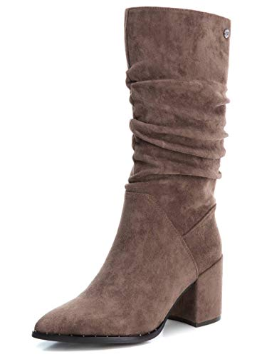 XTI 35116, Botas Slouch Mujer, Taupe, 37 EU