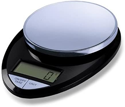 (Black Chrome) - Health Tools ESKS-06 EatSmart Precision Pro Kitchen Scale Black Chrome