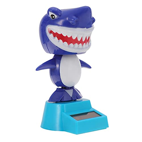 WINOMO Home Decoration Solar Shark Swing Doll Cartoon Desktop Ornament for Car Party Home Store Office Gift (Blue)