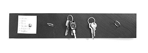HOT STUFF DESIGN Magnetisches Schlüsselbrett aus Schiefer - 50 x 11,5 cm, Schlüsselboard,Schlüsselhalter, Magnetisches Board, Schieferbrett magnetisch
