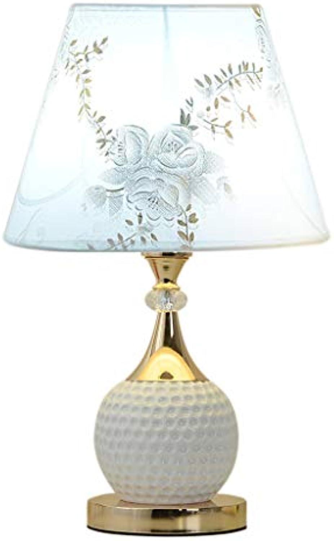SCHUN Reine weie keramische Tischlampe, konkaver Lampenkrper, Einkaufszimmerhochzeitsraum-Nachttischlampe, 26  26  43CM E27 Einfach zu subern (Farbe   H, Größe   26  26  43CM)