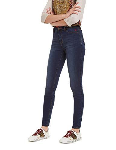 Desigual Damen Trousers Basic 2ND Skin Skinny Jeans, Blau (Denim Medium Dark 5161), Keine Angabe (Herstellergröße: 30)